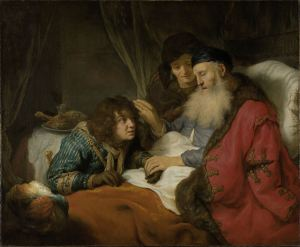 Isaac bendiciendo a Jacob - Govert Flinck