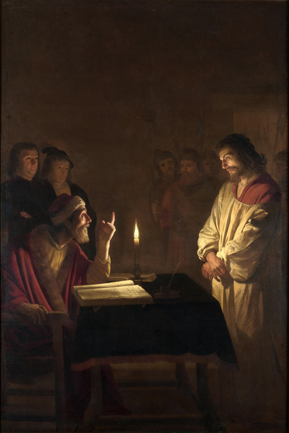 Gerard_van_Honthorst_-_Christ_before_the_High_Priest