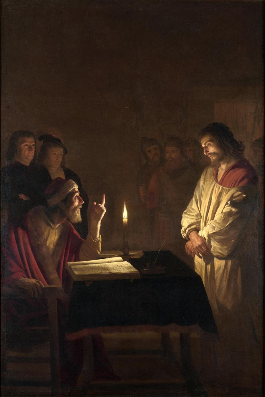 Gerard_van_Honthorst_-_Christ_before_the_High_Priest