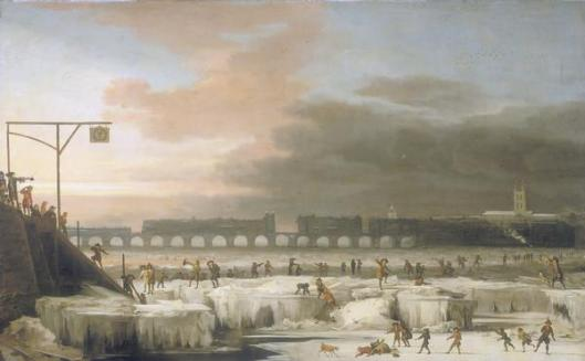 The_Frozen_Thames_1677 Abraham Hondius