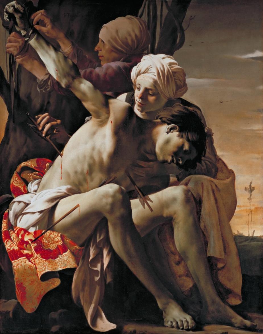 Saint Sebastian Tended by Irene, by Hendrick ter Brugghen
